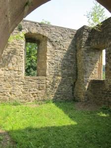 Ruine des Chorgebäudes der Kapelle