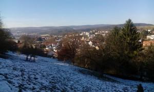 Blick auf Wiesenbach vom Heuberg