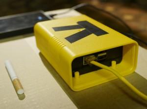 Die Frontseite. 1 GBE und 2 USB2.0 sind ausgeführt.